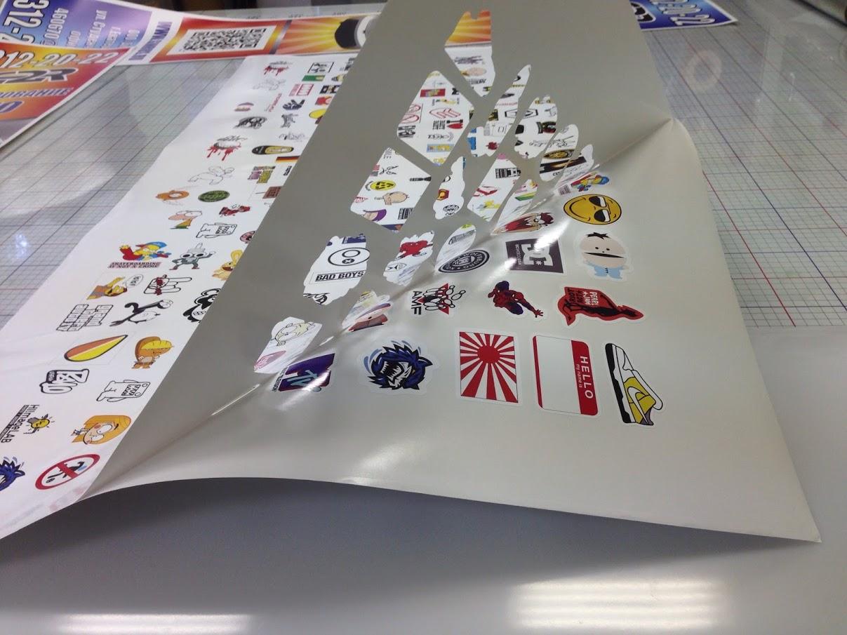 Печать стикеров на самоклеющейся пленке